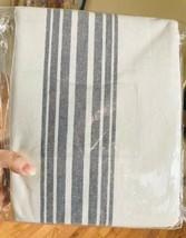 Pottery Barn Set 2 Riviera Stripe Drape Charcoal Gray 50x96L Curtains Pair New - $228.00