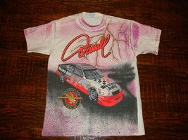 Vintage 90's Darrell Waltrip Nascar Racing All Over Print Winston Cup T ... - $84.14