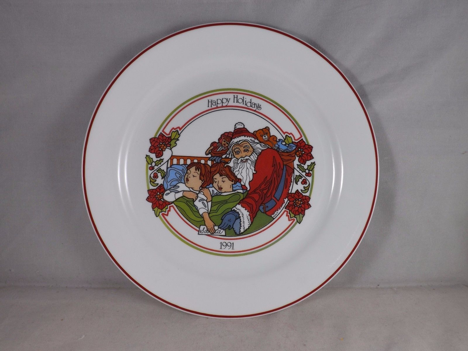 Corelle 1991 Happy Holidays Collectible Dinner Plate Visions of Sugar Plums