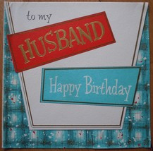 Mid Century Hallmark Husband Happy Birthday Greeting Card 1960s - $3.99