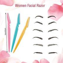 Boao 96 Pieces Eyebrow Razor Eyebrow Shaver Eyebrow Shaper Facial Razor with Pre image 2