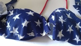 Xhilaration Stars Bikini Swim Top USA Patriotic Red White Blue Size Smal... - $9.49