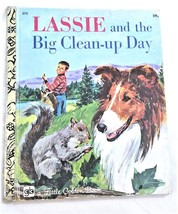 VINTAGE Children's Little Golden Book ~ LASSIE AND THE BIG CLEAN-UP DAY ... - $7.98