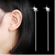 Hot Sale 925 Sterling Silver Star Long Tassel Earrings For Women Ear Lin... - $8.51