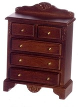 Dollhouse Miniature 1:12 Scale Walnut Chest Of Drawers #CL10803 - $14.99