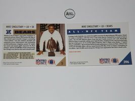 Mike Singletary #50 RB Chicago Bears Football Trading Cards AA-191699 Vintage C image 4