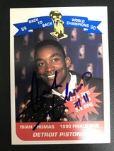 Isiah Thomas Signed Autographed 1990 Unocal NBA Champions Basketball Car... - $19.99