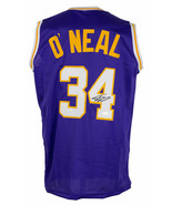Shaquille O'Neal Signed Custom Purple Pro Style Basketball Jersey JSA ITP - $217.79