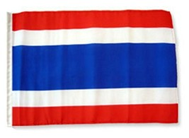 ALBATROS 12 inch x 18 inch Thailand Sleeve Flag for use on Boat, Car, Ga... - $17.38
