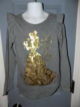 Disney Belle Beauty and the Beast Long Sleeve Gray Shirt Size 6X Girl's EUC - $18.48