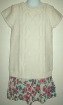 Children's Place Girls Dress Size 5 6 Flower Chiffon Skirt Sweater Top Spring  - $19.79
