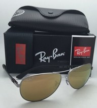 Polarized RAY-BAN Sunglasses TECH SERIES RB 8313 004/N3 Gunmetal Aviator w/Brown