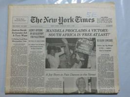 The New York Times 1994 May 3 Mandela Victory South Africa Joy Born in P... - $69.99