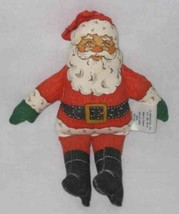 "CUTE 6 1/2"" Hallmark Cloth SANTA Doll - $18.59"