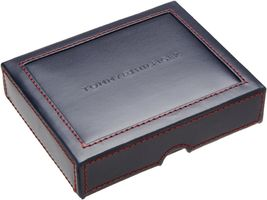 NEW TOMMY HILFIGER MEN'S PREMIUM LEATHER DOUBLE BILLFOLD WALLET OLIVE 31TL13X041 image 5