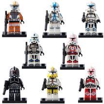 Clone Trooper Captain Rex Fil Keeli ARC Havoc Star Wars 8pcs Custom Minifigures - $16.99