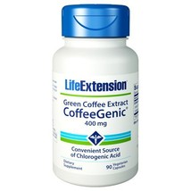CoffeeGenic, 400 mg, Green Coffee Extract 90 vcaps by Life Extension - $24.00