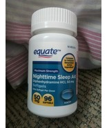 Equate Maximum Strength Nighttime Sleep Aid Softgels, 50 mg, 96 Ct Exp. ... - $11.87