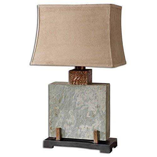 "Uttermost 26321-1 Slate Square Table Lamp 17 x 12 x 28.75"", 28.8"" L x 12.0"" W x"