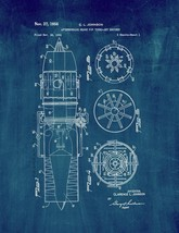 Afterburning Means For Turbo-jet Engines Patent Print - Midnight Blue - $7.95+