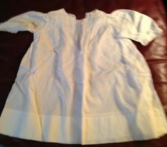 1940s Era Vintage Baby Infant Doll Dress Hand Made Old #1 - $9.75