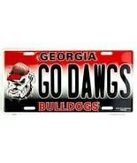 "NCAA GEORGIA BULLDOGS LICENSE PLATE TAG ""THE DAWGS"" METAL MANCAVE SEC SIGN - $12.82"