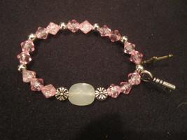 """PINK BEADED """"Key of Life"""" Stretch Bracelet - Christian Bracelet - Free S... - $10.75"""