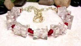 "Vintage Art Deco Clear Geometric ""Cube"" Celluloid Necklace -  Rare Find!... - $373.83"