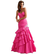 Sexy Strapless Fuchsia Pink Mermaid Prom Pageant Evening Gown Dress, Nig... - $6.209,43 MXN
