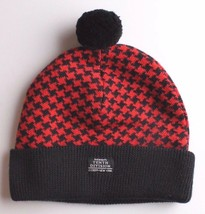 Ten 10 Deep New York The Mighty Tenth Division Houndstooth Pom Beanie Knit Cap