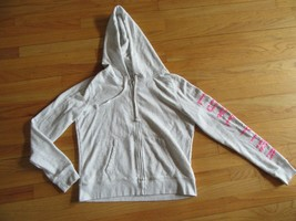 "9B/VICTORIA'S SECRET PINK FULL ZIP HOODIE/PINK ""P""/LOVE PINK/SIZE LARGE! - $24.70"