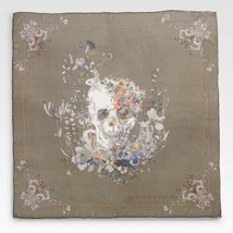 Alexander McQueen 2012  army green floral skull scarf NWT - $389.00