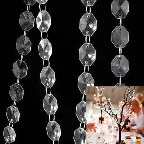 Primary image for 99FT 30m Clear Acrylic Crystal Bead Garland Chandelier Hanging Wedding Supplies