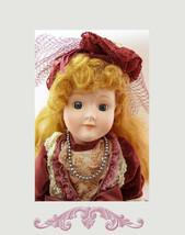 "SARAH Large Victorian Lace Porcelain Doll 16"" QVC 1980's Camelot Collect... - $43.90"