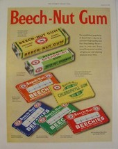 1952 Beech-Nut Gum colorful print ad peppermint Spearmint mello fruit Pe... - $9.99