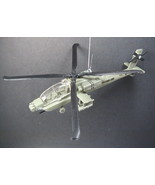 Green US Army Boeing AH-64 Apache Attack Helicopter Christmas Tree Ornament - $21.84