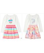 NWT The Children's Place Girls Flip Sequin Cupcake Unicorn Rainbow Tutu ... - $12.99