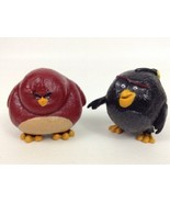 """Angry Birds Toys Quality 2"""" Figures Bomb Terrence Lot of 2 Rovio Spin Ma... - $10.84"""