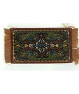 Vintage Miniature Dollhouse Ornate Tapestry Area Rug 1970s 1:12 - $29.00