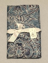 NEW Pottery Barn Euro Pillow Sham Jacquelyn Blue Purple Medallion 350 TC PB - $33.66