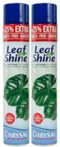Chrysal Leaf Shine Plant Spray Protective Layer Natural Shiny Look 2 pk ... - $31.49