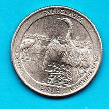 2014 D Florida Everglades National Park Quarter - America The Beautiful - $2.00