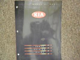 2001 Kia Teile Preis und Information Service Reparatur Shop Manuell März 01 - $19.74