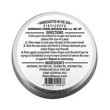 Fisticuffs Strong Hold Mustache Wax Leather/Cedar wood scent 1 OZ. Tin image 2