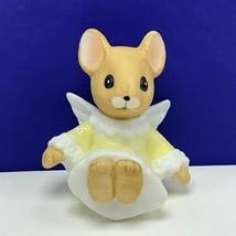 Angel figurine vintage porcelain sculpture Christmas Enesco mouse mice y... - $16.63