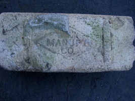 OLD VTG antique Brick reclaimed Stamped Manuple Co - $19.78