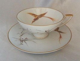HEINRICH Selb (Bavaria Germany) Golden Bird Tea Cup & Saucer w/ Gold Tri... - $24.40