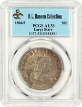 1806/5 50c PCGS AU53 (Large Stars) ex: D.L. Hansen - Popular Early Overdate - $5,499.90