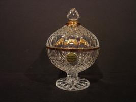 Cristal D'Arques Durand Longchamp Gold Candy Dish Lid, Gold Trim ca. 198... - $14.99