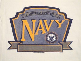 Vtg United States Navy USA Military T Shirt S - $12.86